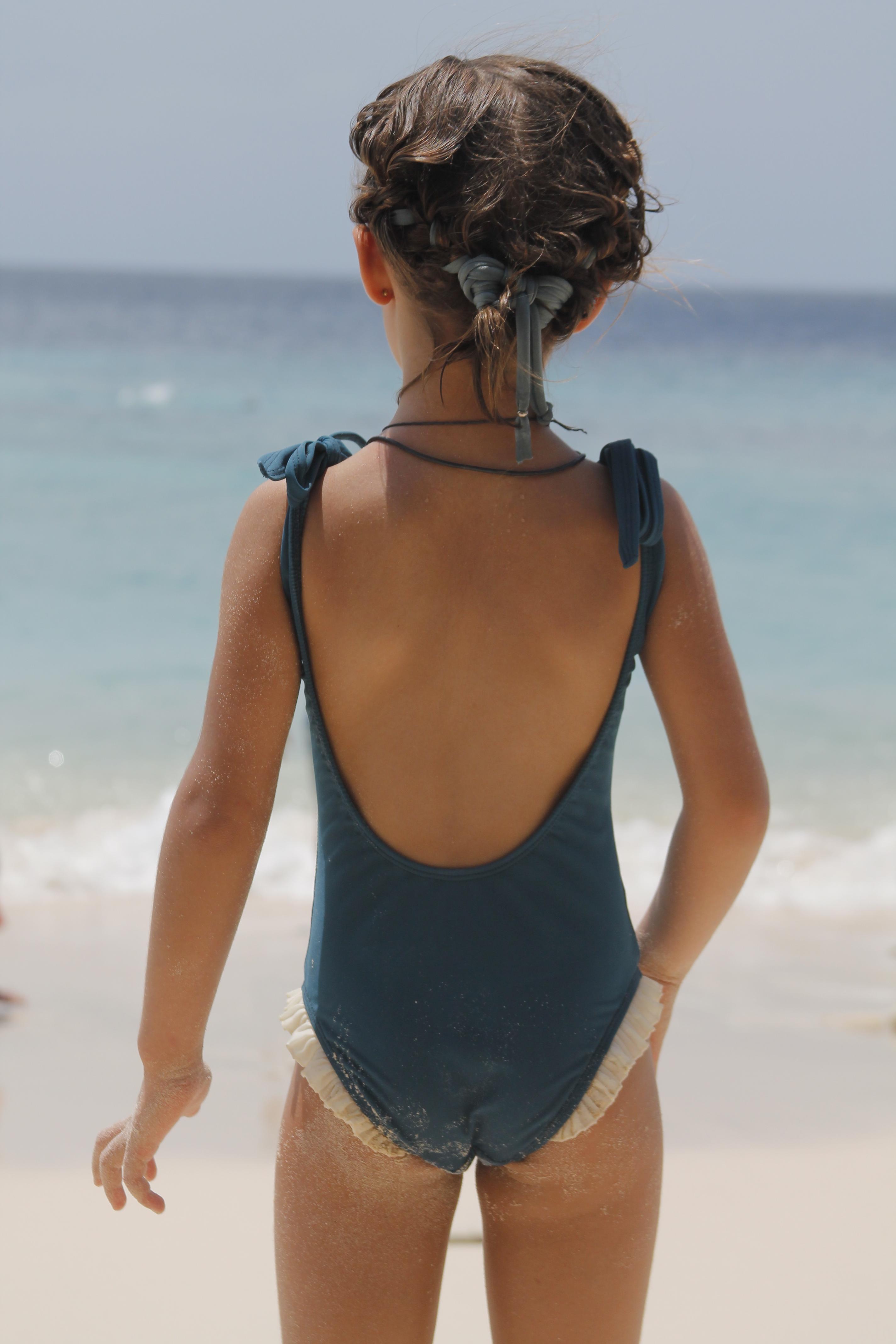 bañador niña Azul Bailarina Tipo 01