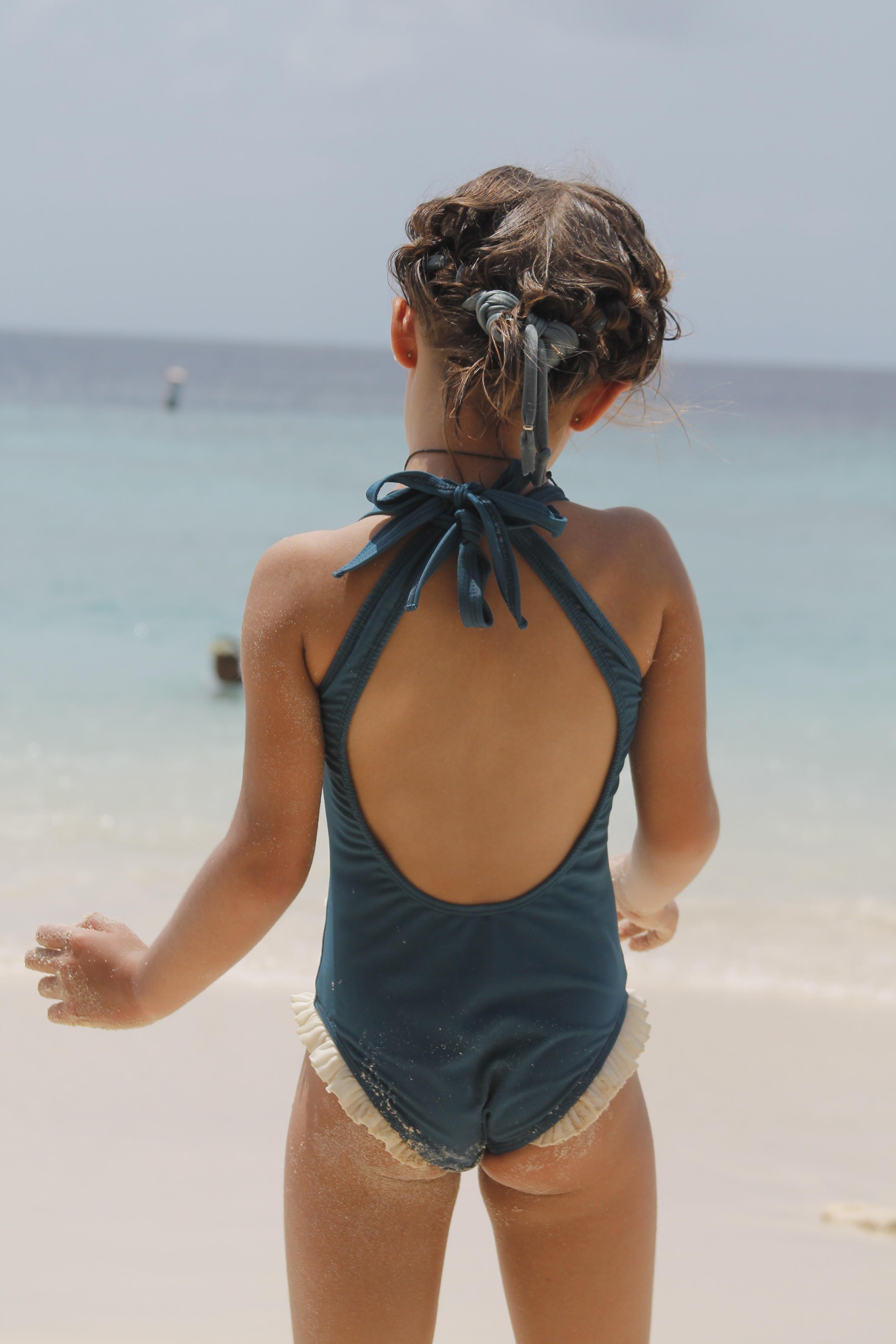 bañador niña Azul Bailarina Tipo 031