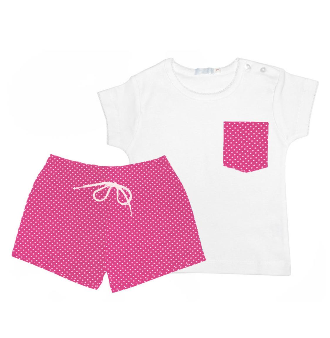 bañador y camiseta mamay niño fresa