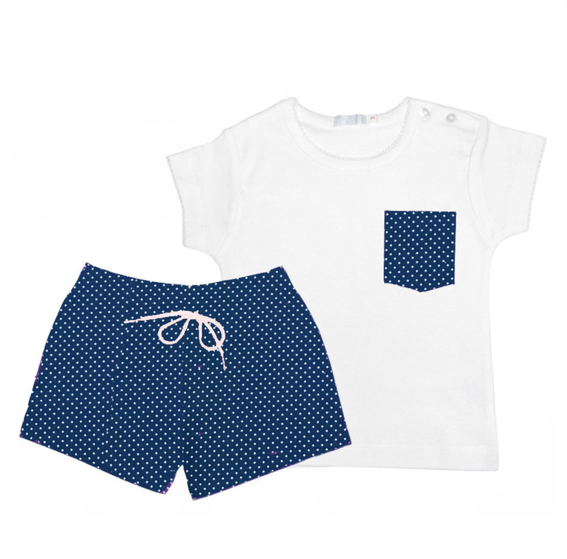 bañador y camiseta mamay niño azul