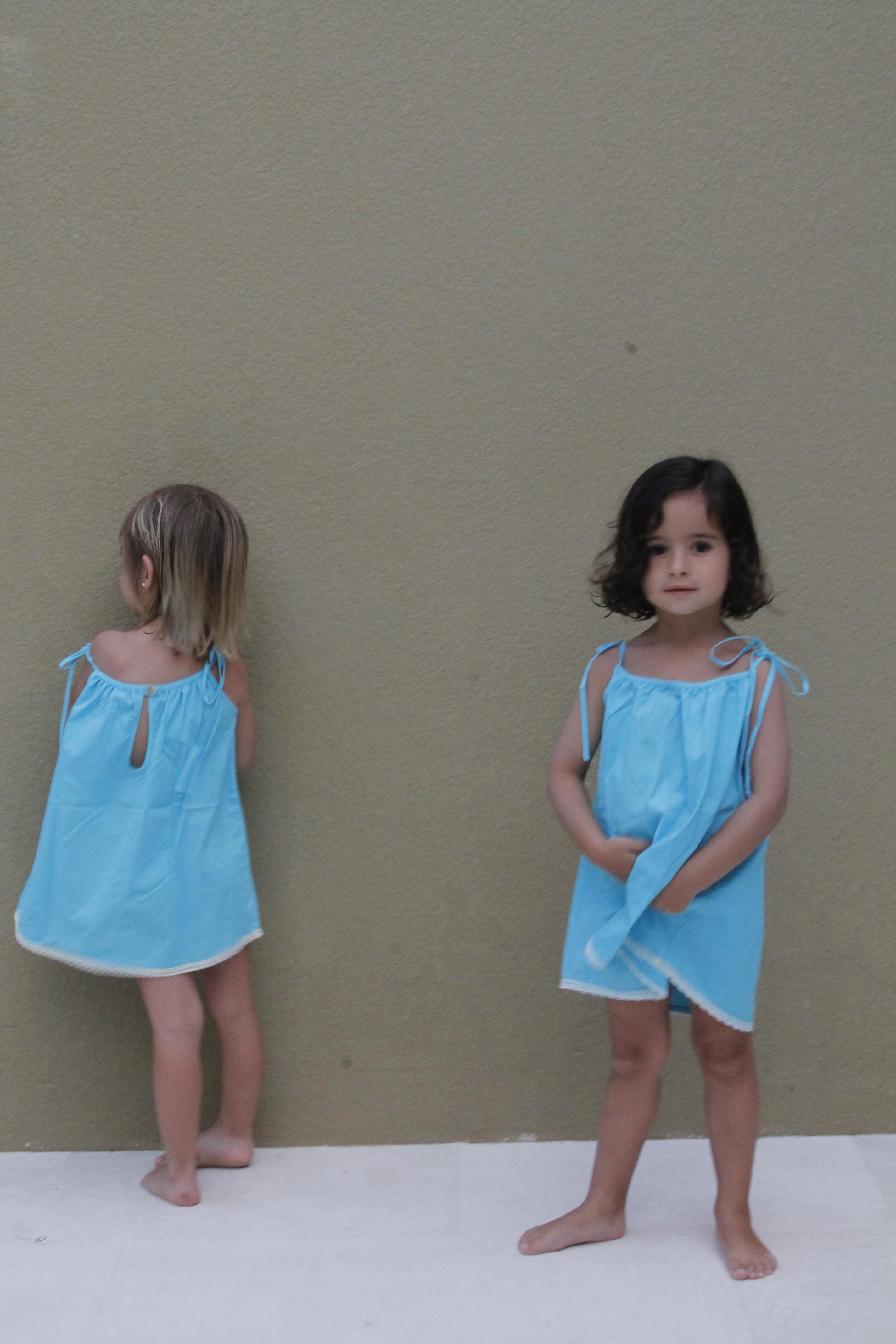 vestido niñas azul